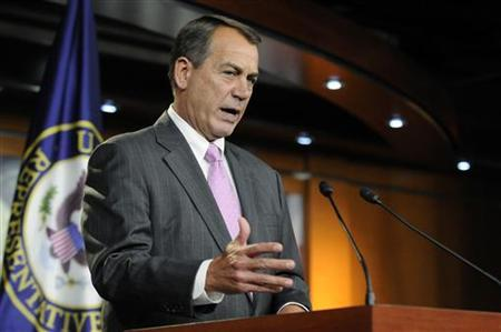 House Speaker John Boehner (R-OH) speaks during a news conference at the Capitol in Washington, September 22, 2011.      REUTERS/Jonathan Ernst