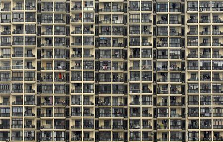 A view of a residential building in Shanghai in this file picture taken, March 18, 2009.  REUTERS/Stringer