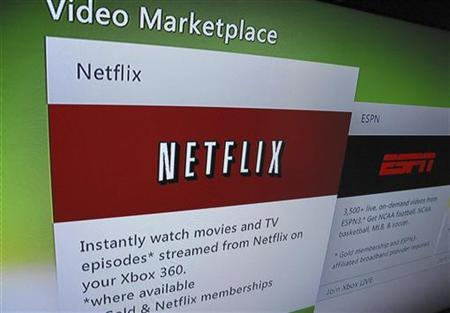 A screen grab shows the access to Netflix online, as displayed on a television screen, in Encinitas, California July 25, 2011.  REUTERS/Mike Blake