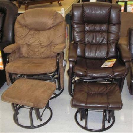 Recalled glider recliner chairs are seen in an undated handout photo. REUTERS/Consumer Product Safety Commission/Handout