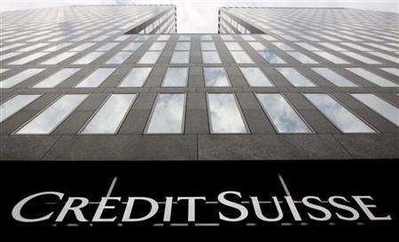A logo is seen on a Credit Suisse building in Zurich, July 28, 2011. REUTERS/Christian Hartmann