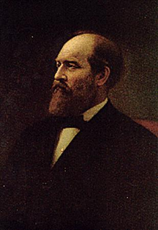 A portrait of U.S. President James A. Garfield, who served in 1881.  REUTERS/Library of Congress/Handout       (UNITED STATES).