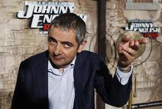 """Rowan Atkinson na exibição do filme """"O Retorno de Johnny English"""", em Madri, em setembro. 26/08/2011 REUTERS/Andrea Comas"""