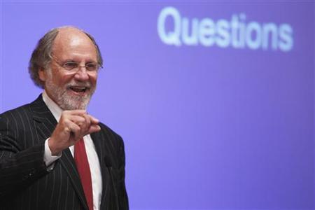 Jon Corzine, chairman and chief executive officer of MF Global Holdings, speaks during the Sandler O'Neill + Partners global exchange and brokerage conference in New York in this June 9, 2011 file photo. REUTERS/Lucas Jackson