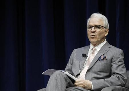 Actor Steve Martin participates in the Live Talks Los Angeles session ''Tina Fey:  A Conversation With Steve Martin'' at Nokia Theatre in Los Angeles April 19, 2011.  REUTERS/Mario Anzuoni