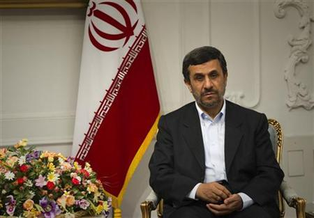 Iranian President Mahmoud Ahmadinejad waits to meet with Iraqi Kurdish Regional President Masoud Barzani in Tehran October 30, 2011. REUTERS/Caren Firouz