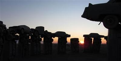 Nebraska ''Carhenge,'' car replica of Stonehenge, up for...