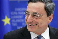 Бывший глава Банка Италии Марио Драги на встрече в Брюсселе, 14 июня 2011 года. Марио Драги, бывший глава банка Италии, вступит в должность председателя Европейского центрального банка (ЕЦБ) 1 ноября 2011 года, сменив француза Жан-Клода Трише. REUTERS/Francois Lenoir