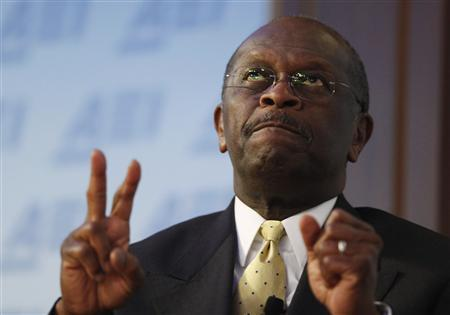 Republican presidential candidate Herman Cain speaks about taxes at the American Enterprise Institute in Washington, October 31, 2011. REUTERS/Larry Downing