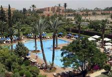 A general view of the Sofitel Hotel in Marrakesh May 10, 2007. Morocco's economic growth likely slowed to an annual rate of 4.1 percent in the third quarter, below the country's full-year target after a slowdown in mining and tourism, the planning authority said on Wednesday. REUTERS/Jean Blondin