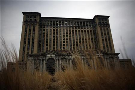 The abandoned Michigan Central Station is seen in Detroit, Michigan April 5, 2011.  REUTERS/Eric Thayer