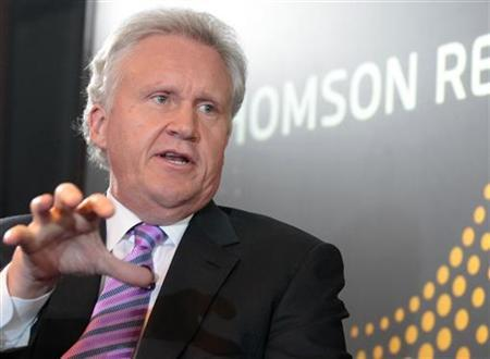 General Electric Co Chief Executive Jeff Immelt speaks at a Thomson Reuters newsmaker event in New York, October 17, 2011. REUTERS/Brendan McDermid
