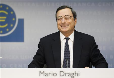 The European Central Bank President Mario Draghi reacts during his first news conference in Frankfurt, November 3, 2011. REUTERS/Alex Domanski