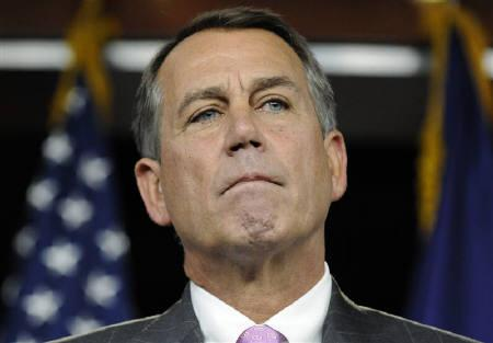 U.S. House Speaker John Boehner (R-OH) listens to a question during a news conference at the Capitol in Washington, September 22, 2011.     REUTERS/Jonathan Ernst/Files