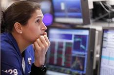 <p>A trader works on the floor of the New York Stock Exchange August 19, 2011. REUTERS/Lucas Jackson</p>