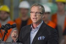 <p>Saskatchewan Premier Brad Wall talks during Alliance Grain Traders Inc's announcement made in Regina, October 7, 2011 to build a $50M multi purpose durum wheat and pulse milling facility in the city. REUTERS/David Stobbe</p>