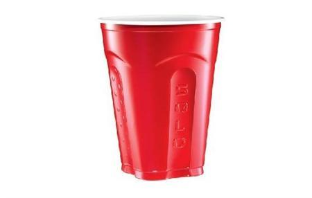 A red Solo cup is seen in an undated handout photo. REUTERS/Solo Cup Company/Handout