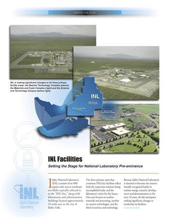 An undated publicity photograph released to Reuters on November 8, 2011 shows facilities at the The Idaho National Laboratory, a U.S. Energy Department nuclear research site in eastern Idaho.  REUTERS/Idaho National Laboratory/Handout