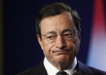 New European Central Bank (ECB) President Mario Draghi attends a meeting on the second day of the G20 Summit in Cannes November 4, 2011.       REUTERS/Yves Herman