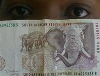 A file photo of a South African rand note. REUTERS/Juda Ngwenya