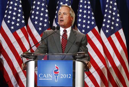 Attorney L. Lin Wood who is representing U.S. Republican presidential candidate Herman Cain speaks during a news conference in Scottsdale, Arizona November 8, 2011.