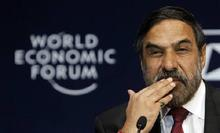 Anand Sharma at the World Economic Forum in Mumbai