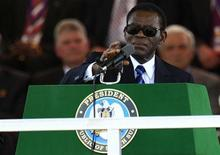 A file photo of  Equatorial Guinea's President Teodoro Obiang Nguema Mbasogo.  REUTERS/Thomas Mukoya