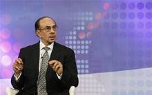 "Chairman of The Godrej Group Adi Godrej speaks during a televised debate on ""The Indian Spring: Seeking Independence from Corruption"" at the World Economic Forum (WEF) India Economic Summit in Mumbai. REUTERS/Vivek Prakash"