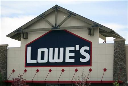 The Lowe's logo is seen in Westminster, Colorado May 16, 2011. REUTERS/Rick Wilking