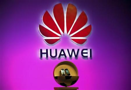 Two new cloud-based smartphones called 'Vision' made by Huawei Technologies Co Ltd, the world's No. 2 network equipment maker, can be seen during an official launch ceremony in Beijing August 3, 2011.    REUTERS/David Gray