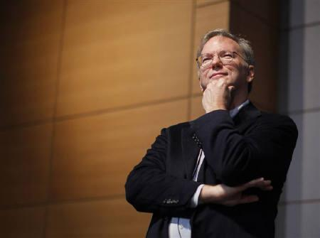 Google executive chairman Eric Schmidt listens to a question from the audience during a presentation at The Sloan School of Management at the Massachusetts Institute of Technology in Cambridge, Massachusetts November 15, 2011. REUTERS/Brian Snyder