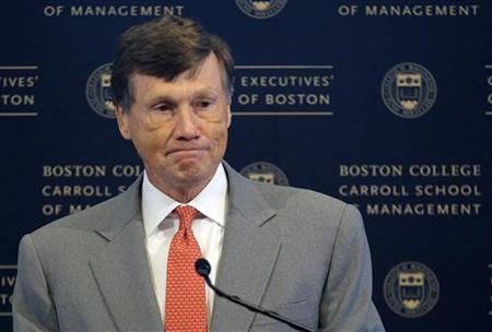 Charles ''Ed'' Haldeman Jr., Chief Executive Officer of Freddie Mac, speaks at Boston College's Chief Executive's Club of Boston luncheon in Boston, Massachusetts October 26, 2011. REUTERS/Brian Snyder
