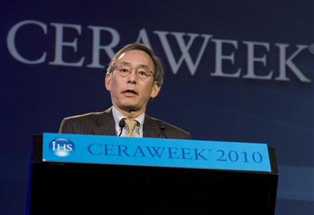 Secretary of Energy Steven Chu speaks during his special address at the CERAWeek 2010 energy conference in Houston March 9, 2010.  REUTERS/Richard Carson