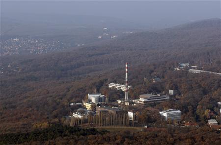 An aerial view shows the campus of the Hungarian Academy of Sciences which houses Izotop Intezet, a Hungarian isotope maker, in Budapest November 17, 2011.  REUTERS/Laszlo Balogh