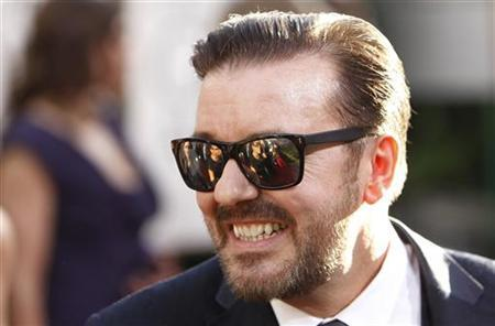 Golden Globe Awards host Ricky Gervais arrives at the 68th annual Golden Globes Awards in Beverly Hills, California January 16, 2011. REUTERS/Danny Moloshok