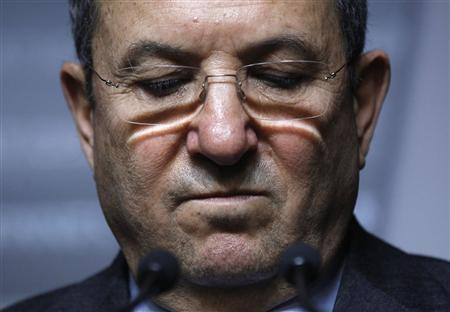 Israel's Defence Minister Ehud Barak takes part in a news conference in Ottawa November 16, 2011. REUTERS/Blair Gable