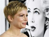 Atriz Michelle Williams, que interpretou Marilyn Monroe, na exibição do filme em Hollyood. 06/11/2011 REUTERS/Danny Moloshok