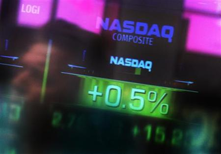 The Nasdaq logo in a file photo.    REUTERS/File