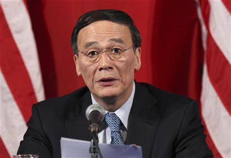 China's Vice Premier Wang Qishan makes a closing statement at the end of the U.S.-China Strategic and Economic Dialogue at the Interior Department in Washington May 10, 2011. REUTERS/Jason Reed