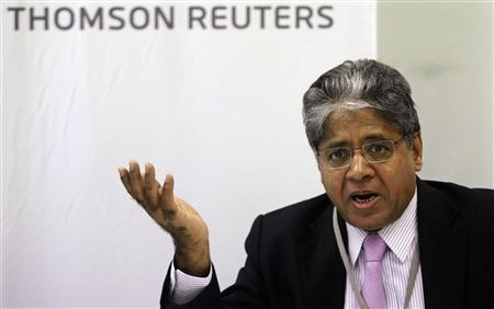 Akhil Gupta, chairman and managing director of Blackstone India, speaks during the Reuters India Investment Summit in Mumbai November 22, 2011. U.S. private equity giant Blackstone Group expects to invest roughly $500 million to $720 million a year in India over the next few years, Gupta said on Tuesday, as a subdued stock market drives entrepreneurs to other investors. REUTERS/Stringer