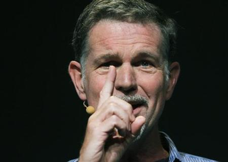 Netflix CEO Reed Hastings gestures while speaking at the Facebook f8 Developers Conference in San Francisco September 22, 2011.  REUTERS/Robert Galbraith