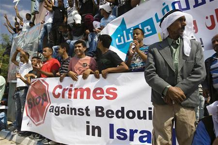 Bedouins take part in a protest in the southern city of Beersheba October 6, 2011. REUTERS/Amir Cohen