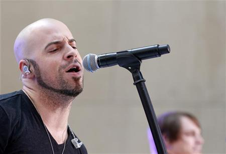 Singer Chris Daughtry performs with his band Daughtry on NBC's 'Today' show in New York, August 20, 2010. REUTERS/Brendan McDermid