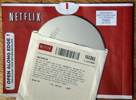 A DVD rental from Netflix is seen in Medford, Massachusetts July 25, 2008. REUTERS/Brian Snyder