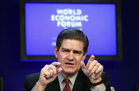 Ernst & Young Chairman and Chief Executive Officer James Turley speaks during a session at the World Economic Forum (WEF) in Davos January 26, 2011. REUTERS/Vincent Kessler