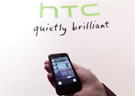 The new HTC smartphone Rhyme is shown during the unveiling event in New York September 20, 2011.  REUTERS/Brendan McDermid