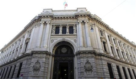 The Bank of Italy building is seen downtown Milan, November 25, 2011.     REUTERS/Stefano Rellandini