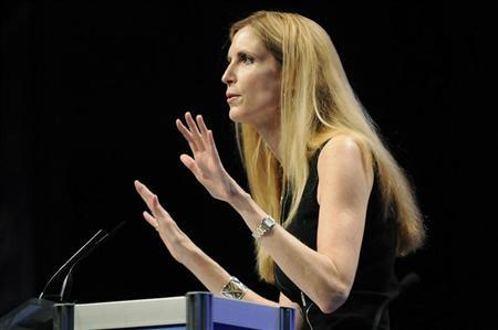 Commentator Ann Coulter speaks to the Conservative Political Action conference (CPAC) in Washington, February 12, 2011. REUTERS/Jonathan Ernst