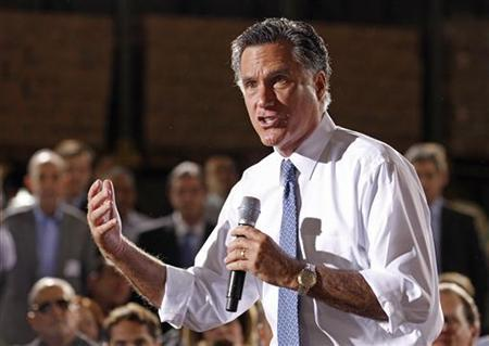 Republican candidate for U.S. president and former Gov. Mitt Romney speaks at a campaign appearance at Conchita Foods Inc. in Miami, Florida November 29, 2011.     REUTERS/Joe Skipper