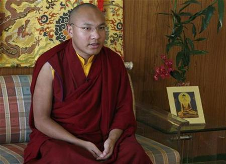 Karmapa Lama, the third highest ranking Lama, speaks during an interview with Reuters in the northern Indian hill town of Dharamsala March 2, 2009.  REUTERS/Abhishek Madhukar